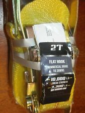 Tie Down Straps 2 in. x 27 ft. 10000 LBS. FLAT Hook, Heavy Duty Ratchet  FREE Sh