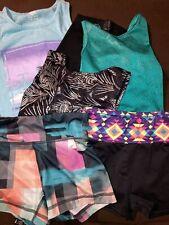 lot of gymnastics/active clothes size child med10-12 leos/shorts/pants/tank