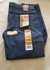 Wrangler Boys Jeans 12 husky Straight carpenter Blue Denim Adjustable Waist Nwt