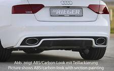Rieger Heckeinsatz für Audi A5 B8 Coupe/ Cabrio ab Facelift S-Line Exterieur/ S5