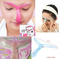 Eyebrow template grooming stencil kit