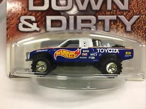 2004 Hot Wheels Auto Affinity Down & Dirty Toyota Truck (Blue & White) 1/20,000