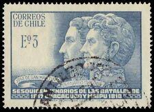 CHILE 367 (Mi677) - Jose de San martin and Bernardo O'Higgins (pa4884)