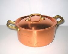 """TAGUS CHEF 3 1/2"""" x 7"""" Covered Copper Pan"""
