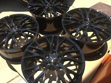 Black 19x8.5 20x10 C7 Z06 ZO6 Style Corvette Wheels Fits 2005-2013 C6