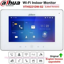 "Dahua VTH5221DW-S2 Ip Monitor interno 7"" TFT Touch Screen Wifi Poe Interfone de vídeo"