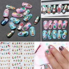 Lovely Christmas Snowman Santa Nail Art Water Transfer Decal Sticker Accessories