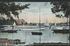 Suffolk Postcard - Wherry Hotel, Oulton Broad    RT952
