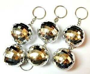 10 Key Chain silver Disco Ball Deco Rock Party Favors giveaways souvenir gadget