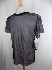 Galaxy by Harvic Men's White & Black Short Sleeve Mesh Shirt Size Medium NWT