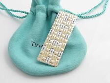Tiffany & Co RARE VINTAGE Silver 18K Gold Weave Money Clip!