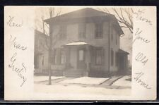 Franklinville NY House RPPC Real Photo Used 1908 b123