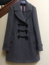 Burberry Brit Womens $1195 Wool Winter Toggle Jacket Coat Size 8, Excellent