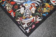 Dsquared 2 S/s 2016 tatuaje bandana pañuelo scarf foulard cadena plastrón Hot