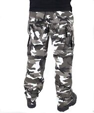 "ARMY BDU PANTS URBAN METRO CAMOUFLAGE Cargo 6 Pockets Size 3XLarge 47""-51"""