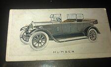 1923 HUMBER 15.9hp  Tourer  Orig Wills Cigarette Card New Zealand