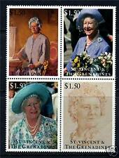 St Vincent 1995 Queen Mother 95th B/day 4v Block SG 2927/30 MNH