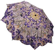 Galleria Van Gogh Irises Art Auto Open/Close Compact Folding Designer Umbrella