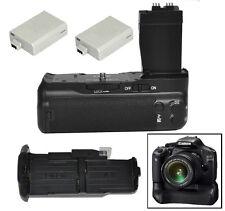Camera Battery Grip For Canon 550D 700D Rebel T2i T3i T5i DSLR BG-E8 +2x LP-E8