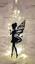 X 2 Fairy With Hearts Wine Bottle Decal/sticker, To Fit Standard Bottles.