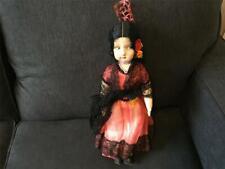 Antique Jointed Spanish Flamenco Lenci Like Boudoir Type Felt Cloth Doll Spain!