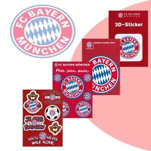 FC Bayern München FCB Aufkleber Aufkleberset Sticker offizielles Lizenzprodukt