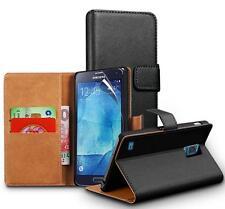 Cuero Genuino Caso Del Soporte de la cartera para Samsung Galaxy S5 Neo &