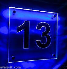 "LED faunz Wegschild, LED Hausnummer ""Ziffer 13"" oder Ihre Wunschnummer©"