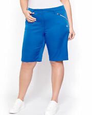Additions Elle PLUS size 26 Canadian clothes GOLF WALK active long SHORTS BLUE