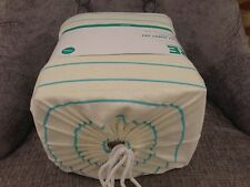 NWT SOFTEST JERSEY KNIT COMPLETE QUEEN SIZE BED SHEET SET GREEN IVORY STRIPED