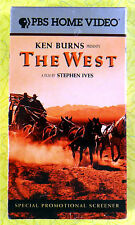 Ken Burns - The West ~ New VHS Movie Screener Promo Demo Tape ~ Rare PBS Video