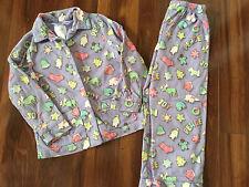 girls NICK & NORA CHRISTMAS WINTER PAJAMAS pants shirt WARM button down SIZE 5T