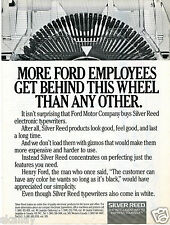 1986 Print Ad of Silver Reed Electronic Typewriters at Ford Motor Company