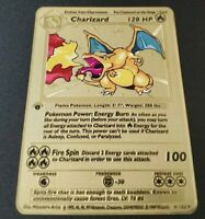 Pokemon 1st Edition Charizard Gold Metal Card
