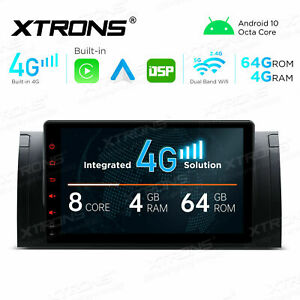 """9"""" Android 10 Car Radio GPS Stereo 4+64GB DSP 4G Car Auto Play For BMW X5 E53"""