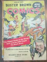 Smilin' Ed's Own Buster Brown Comics #13 Biggest Snake, Shark Drum