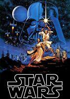 STAR WARS A new hope 1977 Luke Skywalker Movie Posters A3 A4 Print High Quality.