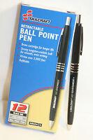 Skilcraft U.S. Government Retractable Ballpoint Pens Fine Point, Black Ink 12 EA
