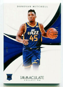 DONOVAN MITCHELL 2017-18 Panini Immaculate Collection Rookie Card RC SP 14/75
