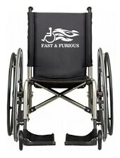 FAST & FURIOUS FLAMING WHEELCHAIR FUNNY VINYL DECAL STICKER FOR CAR WHITE