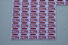 OC plaque 32396 rouge autocollante chevrolet corvette Heco miniatures voiture