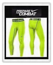 Men's Nike Pro Combat Compression Hyperwarm DriFit Tights Pants Volt Large NWT