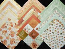 12X12 Scrapbook Paper Cardstock Fall Autumn Thankful Heart Family Gathering 24