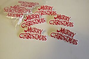 Merry Christmas plastic Motto Cake Decoration - pack of 5