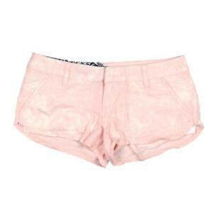 Volcom Womens Ur A Pistol Pink Acid Wash Casual Shorts Juniors 5 BHFO 4436