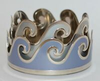 NEW BATH & BODY WORKS BLUE OCEAN WAVES METAL LARGE 3 WICK CANDLE HOLDER 14.5 OZ