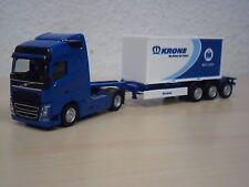 "Herpa - Volvo FH`13 GL 20ft Platten-Container-SZ ""Krone Box Liner"" - 1:87"