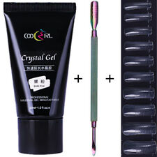 30ml Nail Poly Gel Quick Building Gel Cuticle Remover Pusher W/1Box False Tips