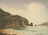 Francis Wells - Early 20th Century Etching, Gathering Clouds, Mullion Cove
