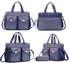 3pcs Nappy Changing Bag Set Diaper Bag Set Fashion Shoulder Bag Dot 06 BLUE